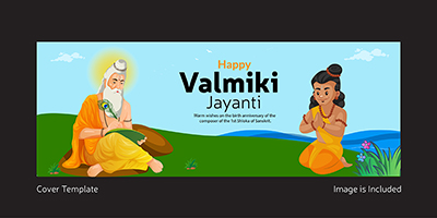 Facebook cover template of happy Valmiki Jayanti