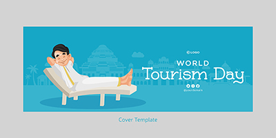 Facebook cover template of world tourism day