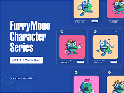 Furry Mono Character Series NFT Art Collection