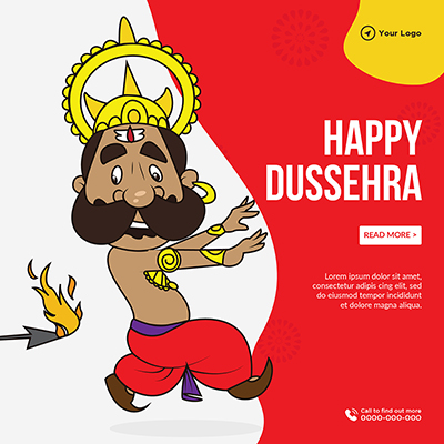 Happy Dussehra annual festival template