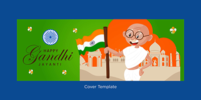 Happy Gandhi Jayanti cover page design