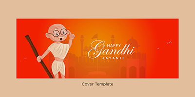 Happy Gandhi Jayanti cover page template