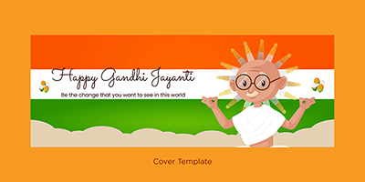 Happy Gandhi Jayanti coverpage template