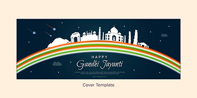 Happy Gandhi Jayanti event cover page template
