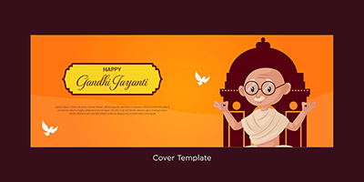 Happy Gandhi Jayanti event coverpage template