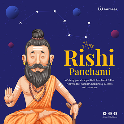 Happy Rishi Panchami banner template