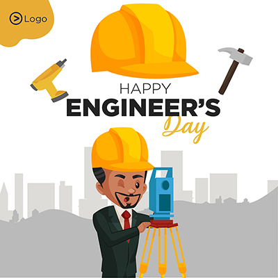 Happy engineer's day design template