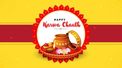 Happy karwa chauth celebration template