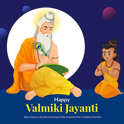 Happy valmiki jayanti template banner