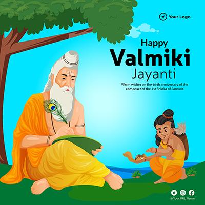 Happy valmiki jayanti template design