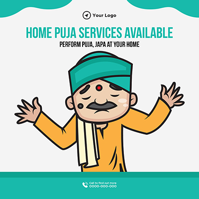 Home puja services available template banner