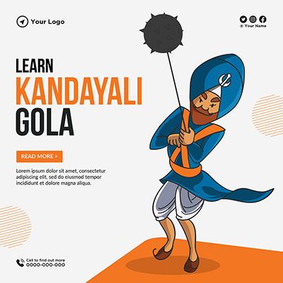 Learn kandayali gola banner design