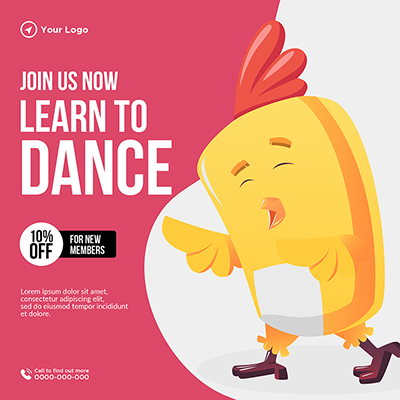 Learn to dance join us now banner template