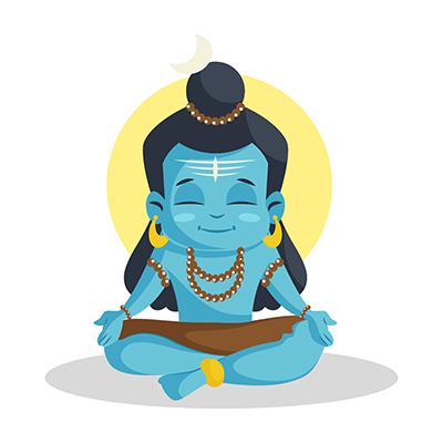Lord Shiva is doing meditation