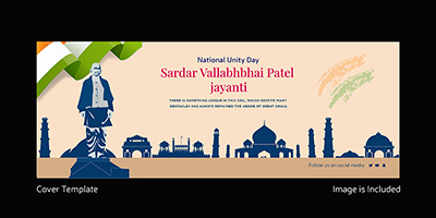National unity day cover template design