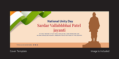 National unity day facebook cover design