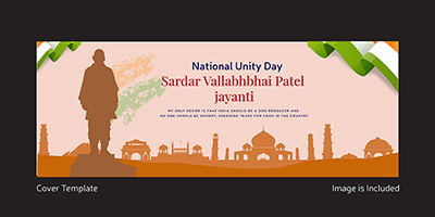 National unity day facebook cover design template
