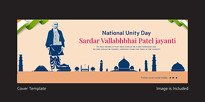 National unity day facebook cover template