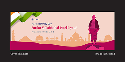 National unity day on a cover design template