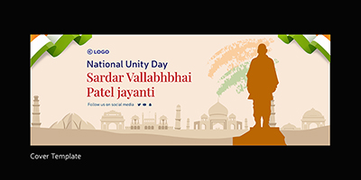 National unity day on a cover template