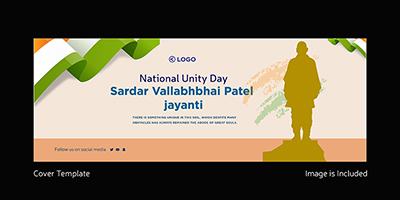 National unity day on a cover template design