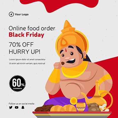Online food order on black friday template