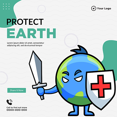 Protect Earth banner template