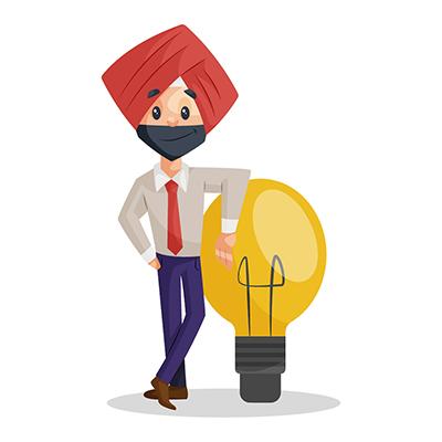 Punjabi businessman is with creative ideas