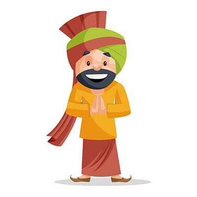 Punjabi Sardar is with greet hands
