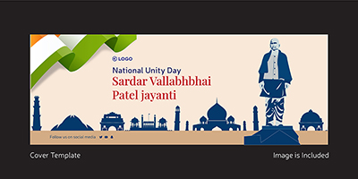 Sardar Vallabhbhai patel jayanti cover design