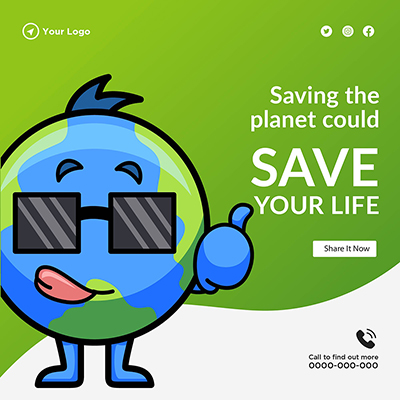 Saving the planet could save your life template