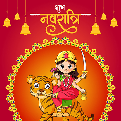 Shubh Navratri template in Hindi language
