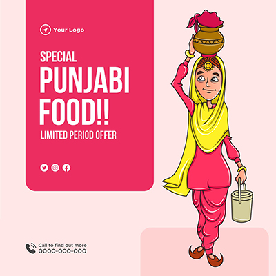 Special Punjabi food banner template