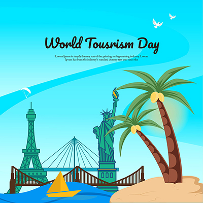 Template banner for world tourism day