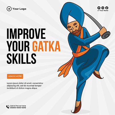 Template banner of improve your gatka skills