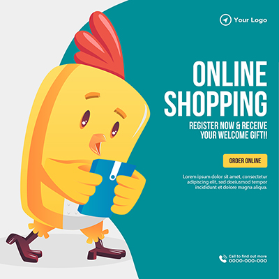 Template banner for online shopping