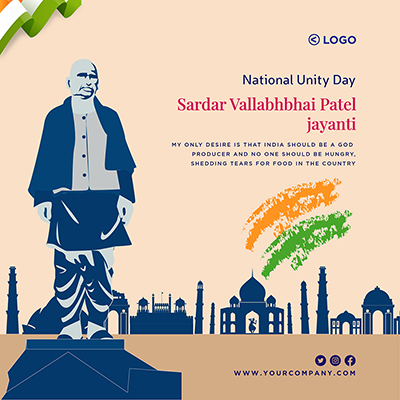 Template banner of national unity day