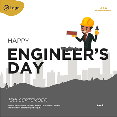 Template design for happy engineer's day