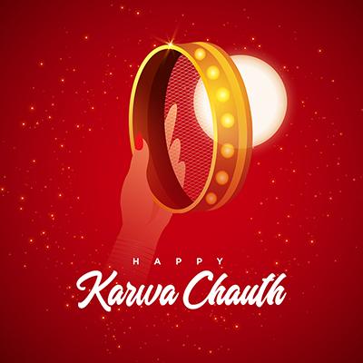 Template design for happy karwa chauth celebration