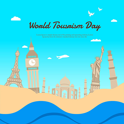 Template design for world tourism day