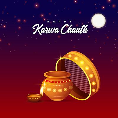 Template design of happy karwa chauth celebration