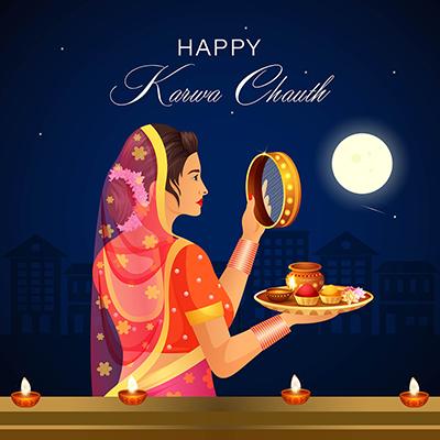 Template design of happy karwa chauth festival