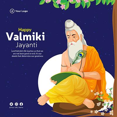 Template design of happy valmiki jayanti