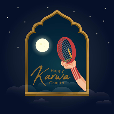 Template for happy karwa chauth worship day