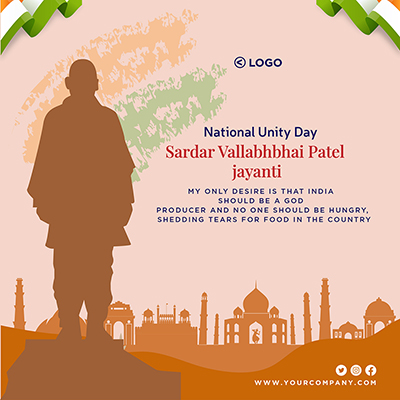 Template for national unity day sardar vallabhbhai patel jayanti