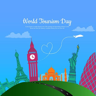 Template for world tourism day banner