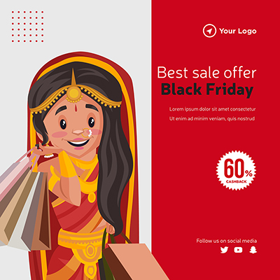 Template of the best sale offer on black friday