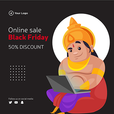 Template of black friday online sale