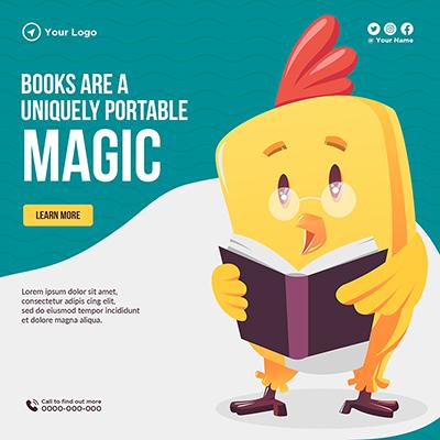 Template for books are a uniquely portable magic