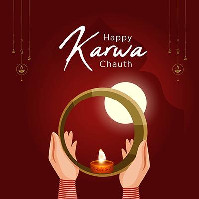 Template of happy karwa chauth worship day